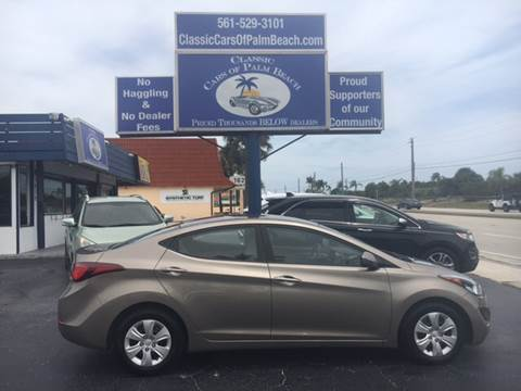 2016 Hyundai Elantra for sale in Jupiter, FL