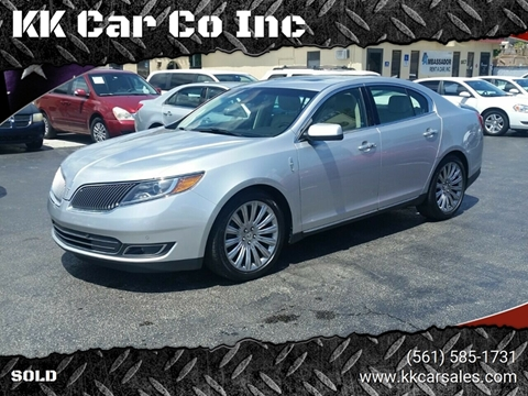 2013 Lincoln MKS for sale at KK Car Co Inc in Lake Worth FL