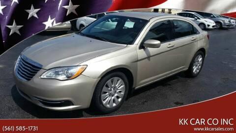 2014 Chrysler 200 for sale at KK Car Co Inc in Lake Worth FL