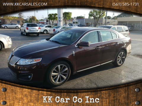 2011 Lincoln MKS for sale at KK Car Co Inc in Lake Worth FL