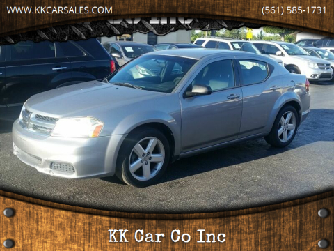 2013 Dodge Avenger for sale at KK Car Co Inc in Lake Worth FL