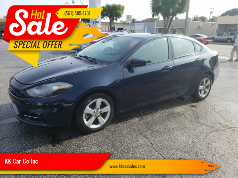 2015 Dodge Dart for sale at KK Car Co Inc in Lake Worth FL