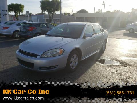 2012 Chevrolet Impala for sale at KK Car Co Inc in Lake Worth FL