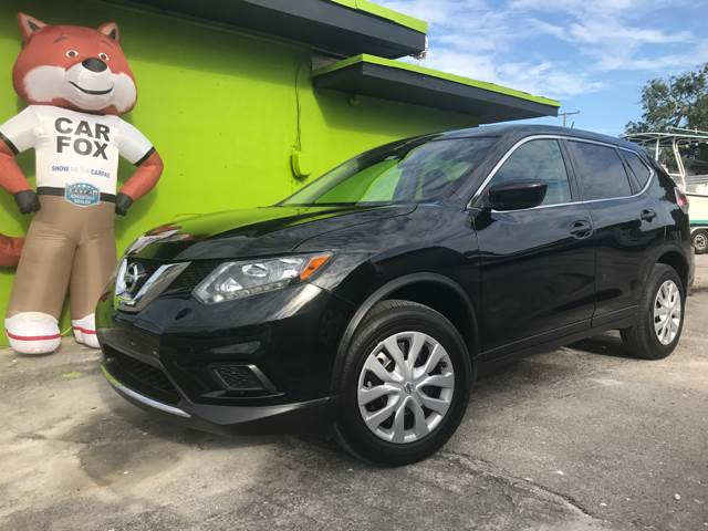 2016 NISSAN ROGUE SV AWD 4DR CROSSOVER black third row 2-stage unlocking doors 4wd type - on dem