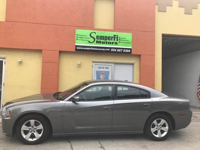 2012 Dodge Charger for sale at Semper Fi  Motors in Miami FL