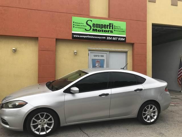 2013 Dodge Dart for sale at Semper Fi  Motors in Miami FL