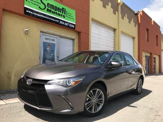 2015 Toyota Camry for sale at Semper Fi  Motors in Miami FL