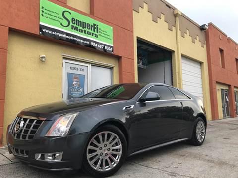 2012 Cadillac CTS for sale at Semper Fi  Motors in Miami FL
