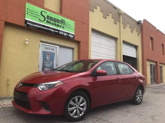 2015 Toyota Corolla for sale at Semper Fi  Motors in Miami FL