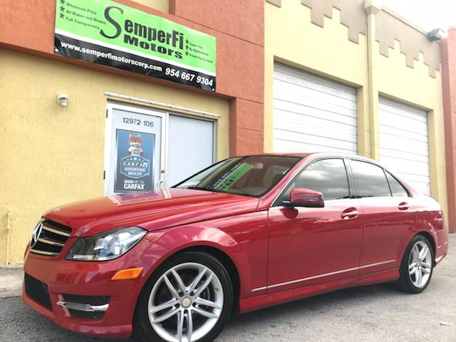 2014 Mercedes-Benz C-Class for sale at Semper Fi  Motors in Miami FL
