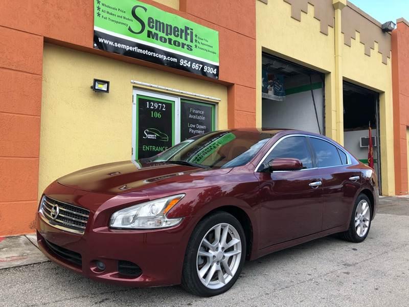 2010 Nissan Maxima For Sale At Semper Fi Motors In Miami FL