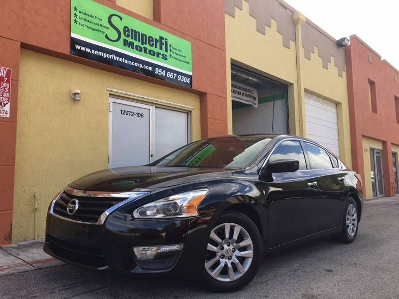 2013 Nissan Altima for sale at Semper Fi  Motors in Miami FL