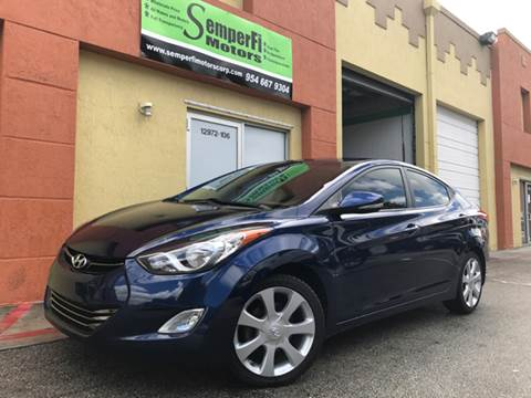 2013 Hyundai Elantra for sale at Semper Fi  Motors in Miami FL