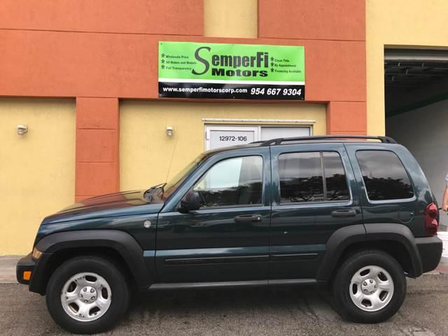 2005 Jeep Liberty for sale at Semper Fi  Motors in Miami FL