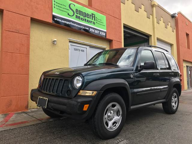 2005 JEEP LIBERTY SPORT 4WD 4DR SUV green axle ratio - 410 center console - front console with