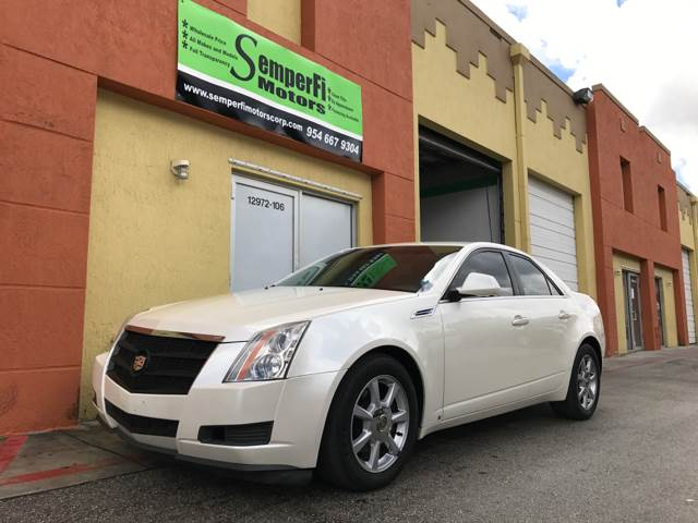 2009 CADILLAC CTS 36L V6 4DR SEDAN W 1SA white 2-stage unlocking doors abs - 4-wheel airbag d