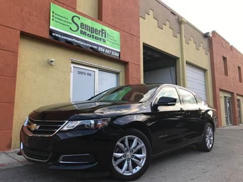 2016 Chevrolet Impala for sale at Semper Fi  Motors in Miami FL