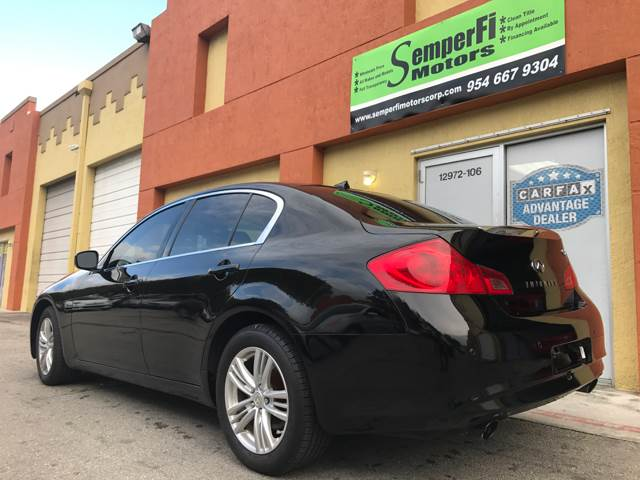 2012 Infiniti G37 Sedan for sale at Semper Fi  Motors in Miami FL