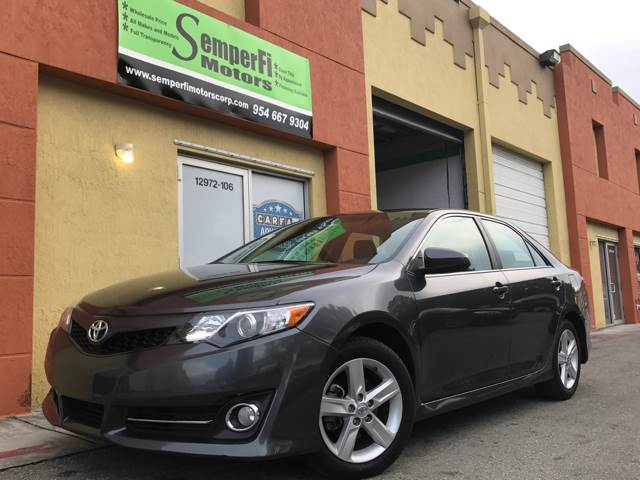 2014 Toyota Camry for sale at Semper Fi  Motors in Miami FL