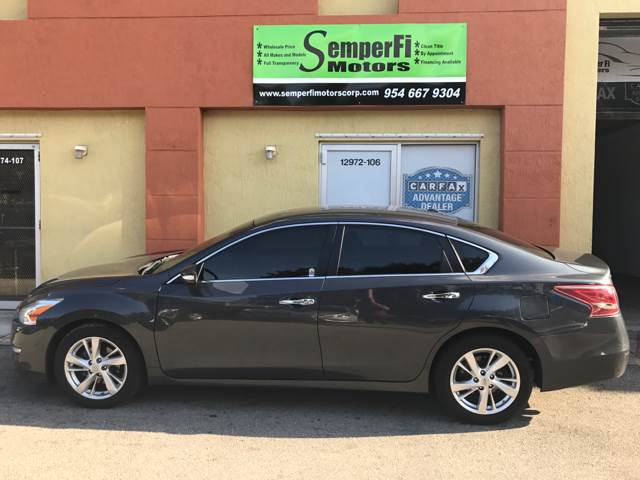 2013 Nissan Altima for sale at Semper Fi  Motors in Miami FL