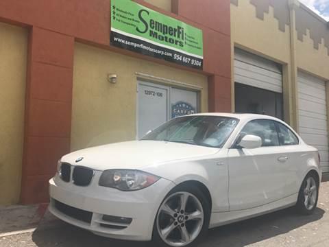 2010 BMW 1 Series for sale at Semper Fi  Motors in Miami FL