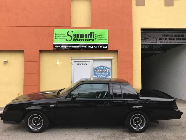 1985 Buick Grand National for sale at Semper Fi  Motors in Miami FL