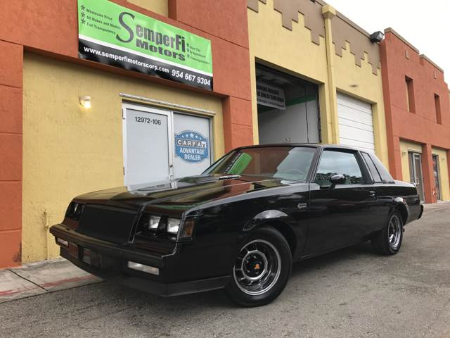 1985 BUICK GRAND NATIONAL black 89603 miles