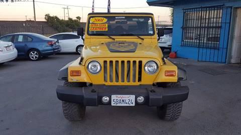 2001 Jeep Wrangler Sport for sale in Modesto, CA