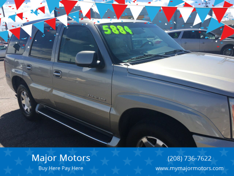 2002 Cadillac Escalade for sale at Major Motors in Twin Falls ID