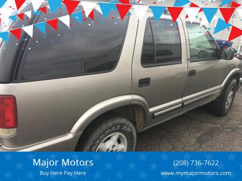 2000 Chevrolet Blazer for sale at Major Motors in Twin Falls ID