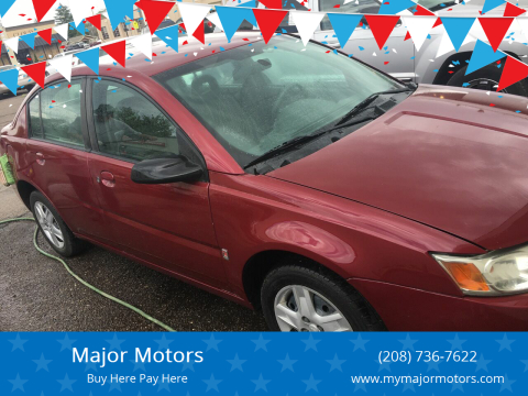 2006 Saturn Ion for sale at Major Motors in Twin Falls ID