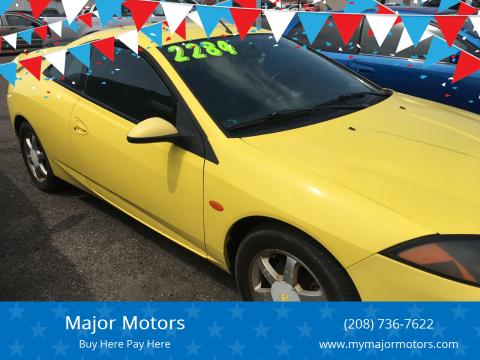 2000 Mercury Cougar for sale at Major Motors in Twin Falls ID
