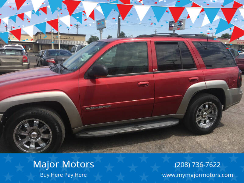 2002 Chevrolet TrailBlazer for sale at Major Motors in Twin Falls ID