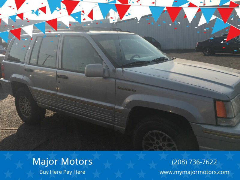 1994 Jeep Grand Cherokee for sale at Major Motors in Twin Falls ID