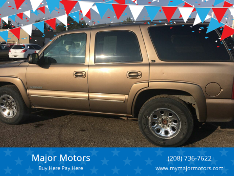 2003 Chevrolet Tahoe for sale at Major Motors in Twin Falls ID