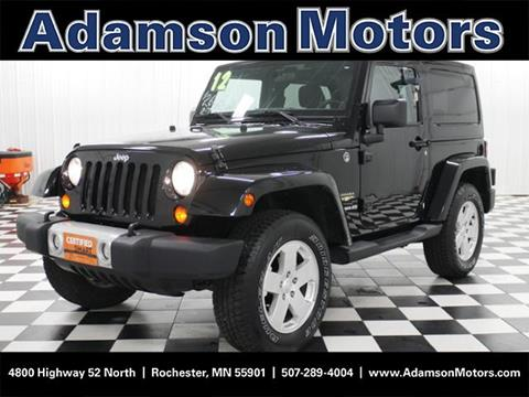2012 Jeep Wrangler for sale in Rochester MN