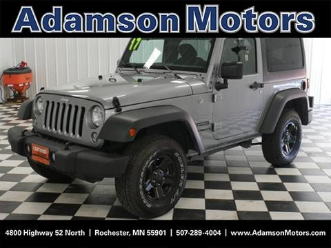 2017 Jeep Wrangler for sale in Rochester MN