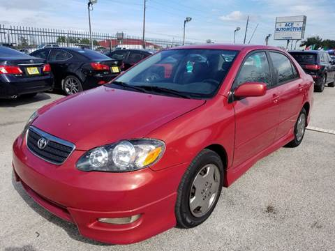 2006 Toyota Corolla for sale at ACE AUTOMOTIVE in Houston TX