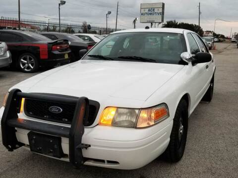 2010 Ford Crown Victoria for sale at ACE AUTOMOTIVE in Houston TX