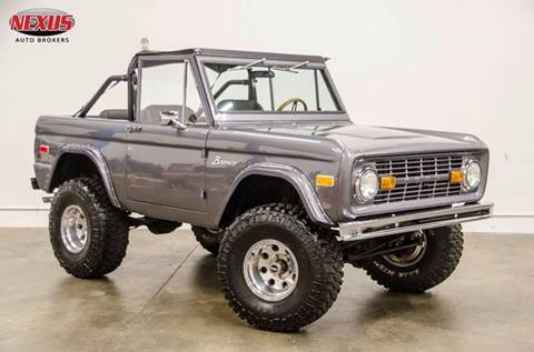 1972 Ford Bronco for sale at Nexus Auto Brokers LLC in Marietta GA