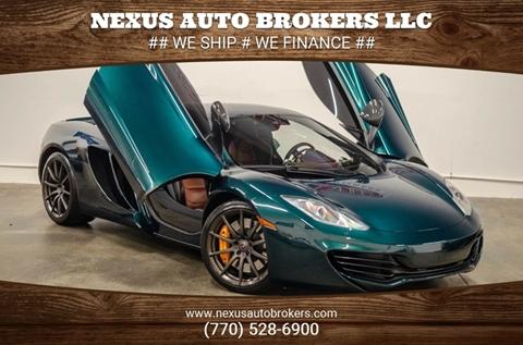 2012 McLaren MP4-12C for sale at Nexus Auto Brokers LLC in Marietta GA