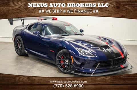 2016 Dodge Viper for sale at Nexus Auto Brokers LLC in Marietta GA