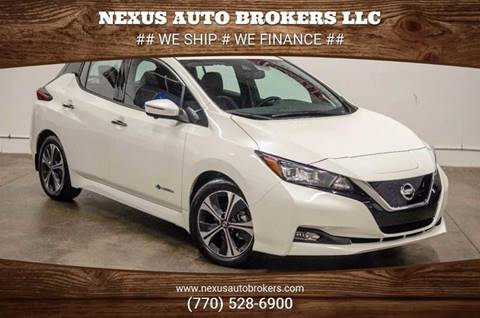 2019 Nissan LEAF for sale at Nexus Auto Brokers LLC in Marietta GA