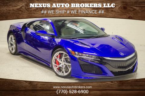 2017 Acura NSX for sale at Nexus Auto Brokers LLC in Marietta GA