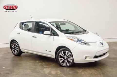 2015 Nissan LEAF for sale at Nexus Auto Brokers LLC in Marietta GA