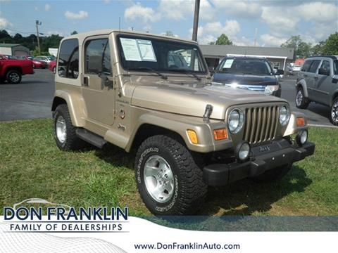 2000 Jeep Wrangler for sale in Columbia, KY