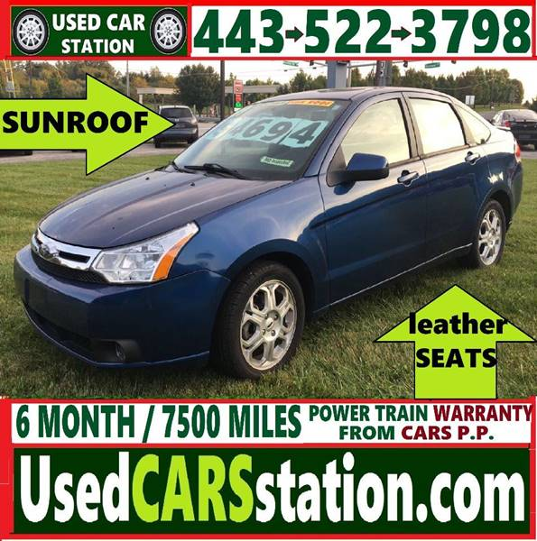 Contact us about this car & 2009 Ford Focus SES 4dr Sedan In Manchester MD - Used Car Station markmcfarlin.com