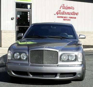 2003 Bentley Arnage for sale at PALMA CLASSIC CARS, LLC. in Audubon NJ