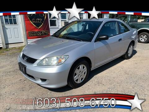 2005 Honda Civic for sale at J & E AUTOMALL in Pelham NH