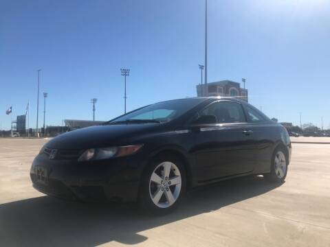 2007 Honda Civic for sale at All American Finance & Auto Sales in Houston TX